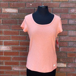 Marika Pretty Back Design Active Tee NEW with tags